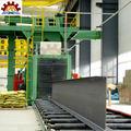 Ampliamente utilizado pasar a través de la máquina de granallado para la placa de acero/h viga de acero