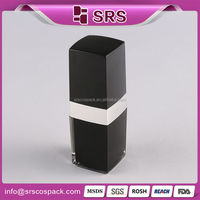 Square plastic cosmetic bottles wholesale, black acrylic cosmetic packaging 140ml for skin care emulsion