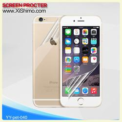 Wholesale OEM&ODM Thickness 0.1mm PET 99% transparent screen protector for iphone with HD clear high transparency