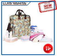 Hot Sale Polyester Baby Diaper Bag Online, Shoulder Backpack for Moms