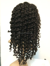 Top Grade High Quality Hand Made Full Lace Curly Human Hair Wigs