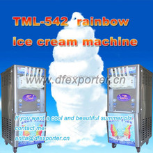 China products wholesale factory price 3+2 mixed flavours mobile soft ice cream machine