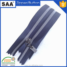 Wholesale High quality Garment Accessories close end custom Nylon zipper with reflect tape
