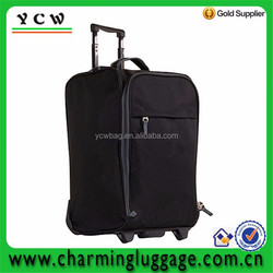 Carry-On Luggage Black Large Rolling Luggage with red and black color