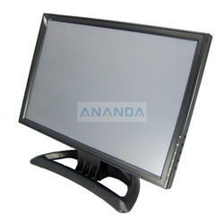 "15"" VGA & Two RCA/BNC video input 4 wires resistive type touch-screen for PC display"