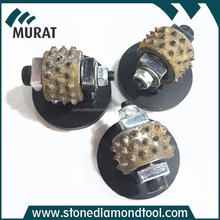 Rotary Bush Hammer Rollers 45 Spikes For Stone Use