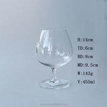 Leadfree handmade brandy snifter French cognac glass