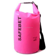 Custom Hot Sale 20L Lite Canoe 500D PVC Pink Outdoor Camping Hiking Waterproof Bag