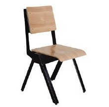 Stackable Steel and Wood Vintage Cafe and Restaurant Chair KF-C203