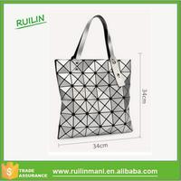 Geometric splicing luxury handbags branded hand bags for women