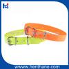 orange fluo PVC dog collar waterproof fluorescent custom pvc dog collar