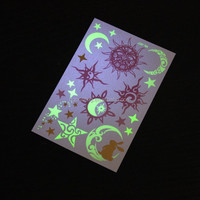 Metallic Flash Tattoos glow in the dark Temporary Gold/Silver Body Jewelry Sticker Deco Non-toxic metallic uv temporary tattoos