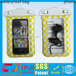 Inflatable pvc cellphone waterproof bag for iphone 5
