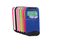 PU Leather Flip Case For HTC One M8