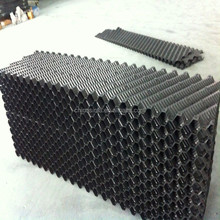 Black Slope Wave PVC Fill for cooling tower