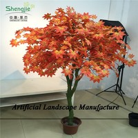 SJZJN 1812 Artificial Red Maple Tree/High Quality Decorative Maple Tree On Sale