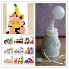 OEM custom size and sound small plush monkey with t-shirt and keyrings