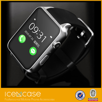 Fashion stainless steel luxury smart watch and connect phone by bluetooth for android smart phones