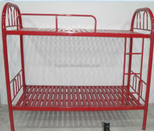 GLT-XRD-A06 strong metal bunk bed, double bed with red color