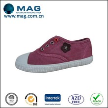 Pretty dyeing low cut plain canvas shoes in casual for kids