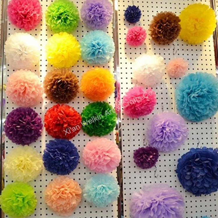 How To Make Crepe Paper Christmas Decorations : Flower pom poms paper christmas decorations buy