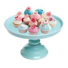 """11.5"""" round ceramic pedestal cake or dessert stand"""