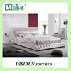 Genuine Leather Bedroom Furniture Soft Modern Bed Designs