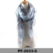 Color Flower Scarf Scarves Shawl Wrap New Long Fashion Gift scarf