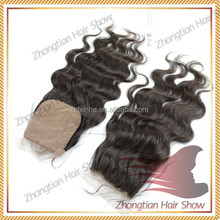 Top Quality Virgin Human Brazilian Remy Hair 4*4 Frontal Lace Closure