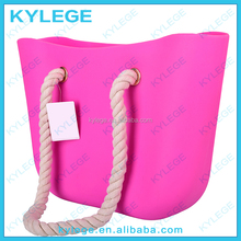 Fashion Pink Color Silicone Rubber Beach Bag