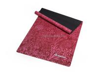 72-inch long high density natural rubber anti-slip printed yoga mat,folded custom label pilate mat