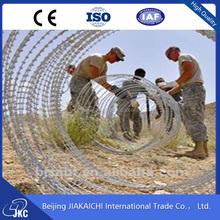military concertina wire / razor wire installation