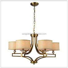 Living Room Decorative Pendant Lamps L82*W82*H50cm Iron&Fabric Chandeliers Edison Bulb e26 110v Chandelier Lighting