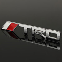 Hot Sale Auto 3D Modified Car Badge Sticker Metal Chrome Silver TRD Logo Front Grille Grill Badges Emblem For TOYOTA