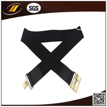 New Design Fashion Narrow Ladies Stretch Elastic Woven Belts