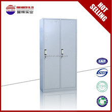 grey metal double color wardrobe / 2 door wardrobe closet / change clothes locker