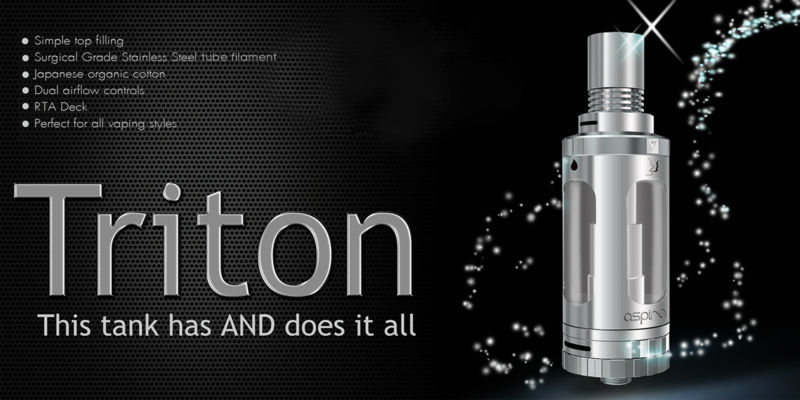 2015 newest Aspire Triton atomizer with top filling Aspire Triton sub ohm tank Aspire Triton