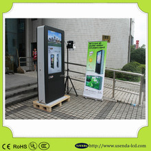 Hot 55inch high brightness Ip65 anti-glare glass outdoor interactive touch screen kiosk with USB and wifi function