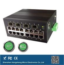 Supports port and VLAN management 16 ports fiber optic converter