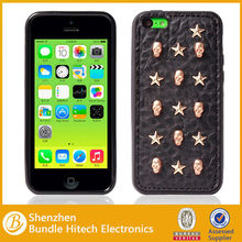 Unique Punk Style Hard Phone Case Cover with studs & skull for iPhone 5 5C Paypal Acceptable