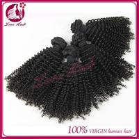 New 2015qing dao love hair product Unprocessed virgin peruvian hair kinky baby curl hair
