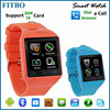 Multimedia Ultrathin Design GSM SMS MMS 240X240 pixel FITBO new model watch mobile phone