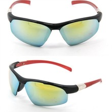 Professional Sport eyewear cycling sunglasses with reflective color lens YJ-S307