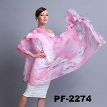 flor de impressão de alta qualidade lenço de seda china wholesale