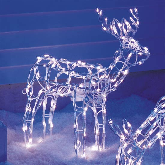 28 best lighted animated reindeer animated tinsel for Animated lighted reindeer christmas decoration