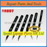 BGA tweezer Antistatic tweezers (6 sizes/set) stainless tweezers For Repair Use, reballing aid tools.