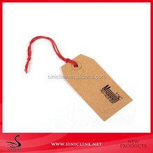 Sinicline Natural Color Kraft Paper Clothing Hang Tag for Jeans