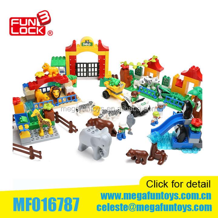 Happy Animals Big Block Sets 146pcs Duplo Building Block ...