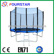 """Economic Round Trampoline with Safety Enclosure and Big""""L"""" Shape Leg"""