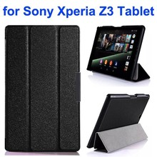3-Folding Ultra Thin Flip Leather Case for Sony Z3 Tablet